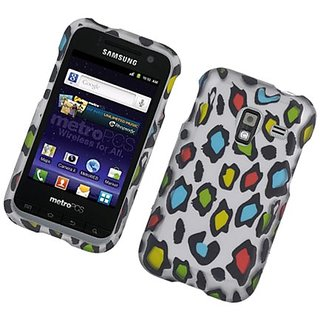 Eagle Cell PISAMR820R2D168 Stylish Hard Snap-On Protective Case for Samsung Admire 4G R820 - Retail Packaging - Rainbow