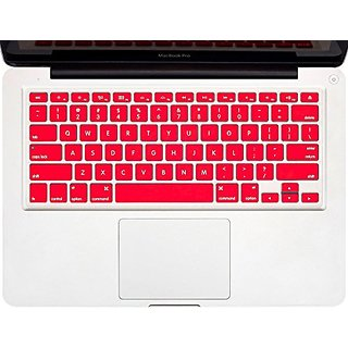 iGreely RED Keyboard Cover Silicone Skin for MacBook Pro 13