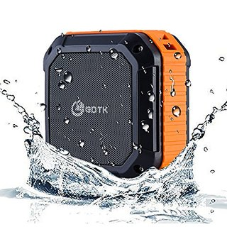 Bluetooth Speakers, GDTK Wireless Speakers V4.1 with 12 Hour Playtime for Outdoor / Shower / Camping / Hiking (Orange)