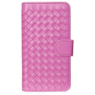 MOBILELUXE Woven Wallet Phone Case for iPhone 6 & 6s - Bright Pink Weave