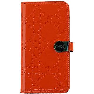 NEX Nexwallet 2-In-1 Stylish Wallet Case for iPhone 6 - Non-Retail Packaging - Orange