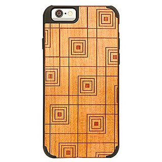 LAX Gadgets Real Handmade Natural Wooden Shockproof Case for IPhone 6 (4.7) - Retail Packaging - Wood
