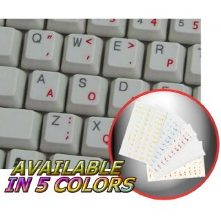 Dvorak Simplified Keyboard Stickers With Red Lettering Transparent Background