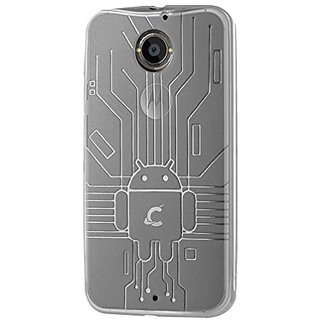 Moto X Case, Cruzerlite Bugdroid Circuit TPU Case Compatible for the All New Motorola Moto X (2nd Generation) - Clear