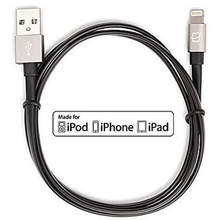 CreatePros Apple Certified Lightning to USB Cable with Aluminum Connectors for iPhone, iPad and iPod - 3.3 Feet (1 Meter