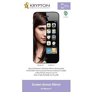 Krypton Screen Armor Mirror for iPhone 4 - 2 Pack