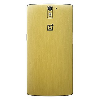 Cruzerlite Metallic Skin for the OnePlus One - Retail Packaging - Brushed Gold (Back Only)