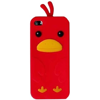 Qtech QT-1110 Unique Funny Duck Protective Case for iPhone 5 - 1 Pack - Retail Packaging - Red