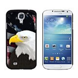 Graphics and More American Bald Eagle Flag USA Patriotic Snap-On Hard Protective Case for Samsung Galaxy S4 - Non-Retail