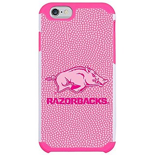 NCAA Arkansas Razorbacks Pink Football Pebble Grain Feel iPhone 6 Case, One Size, Pink