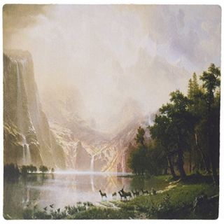 3dRose LLC 8 x 8 x 0.25 Inches Mouse Pad, Among The Sierra Nevada Mountains California By Albert Bierstadt (mp_126671_1)