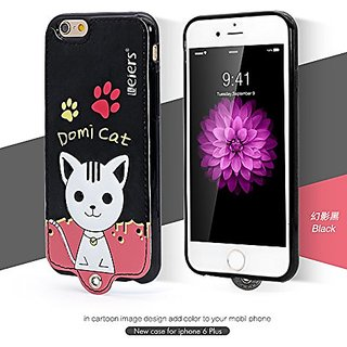 Leiers Domi Cat Series Ultra Compact PU Leather Soft Cover for iPhone 6 Plus (Black DMM-PK-I6P-02)
