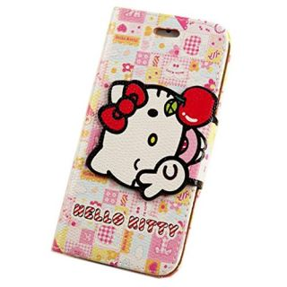 iPhone 6 Plus Case leather,iPhone 6s Plus Case,MODEFAN Flip Wallet Bowknot Hello Kitty Leather Case With Soft TPU Stand