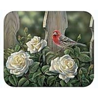 Fiddlers Elbow House Finch & Roses Mouse Pad