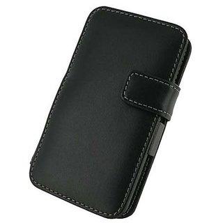 Monaco LG Thrill 4G Monaco Book Type Leather Case - Retail Packaging - Black
