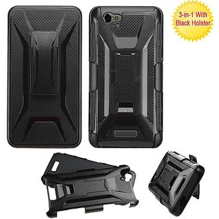 MyBat Carrying Case for BLU D810 Studio Energy - Retail Packaging - Black
