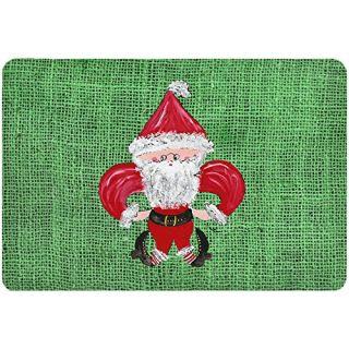 Carolines Treasures Mouse/Hot Pad/Trivet, Christmas Santa Fleur De Lis (8746MP)