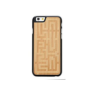 CARVED Maze Engraved Maple iPhone 6/6s Black Case