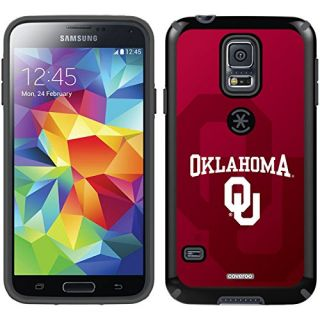 Coveroo CandyShell Case for Samsung Galaxy S5 - Retail Packaging - Black/Oklahoma Watermark Design