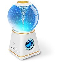 Kocaso Bluetooth 4.0 Dancing Water Globe Speaker Wireless 3 Color Dancing Water Cyclone Speaker (White)