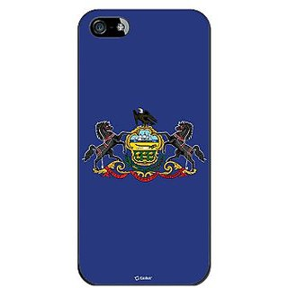 Cellet Proguard Case with Pennsylvania Flag Design Case for Apple iPhone 5 - Black