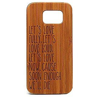 Krezy Case Real wood Samsung Galaxy S6 Case, Quote Samsung Galaxy S6 Case, Wood Galaxy S6 cool Case