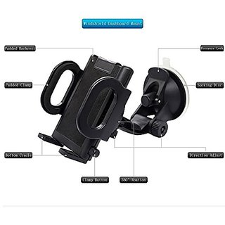 Woderful Car Holder 2 In 1 Mobile Phone Car Mount, Secure Phone/GPS to Windshield or Air Vent, Padded, Adjustable Grips,
