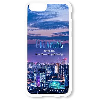 iPhone 6 Case AOFFLY® City At Night Dreaming White Hard Case for Apple iPhone 6 4.7Inch
