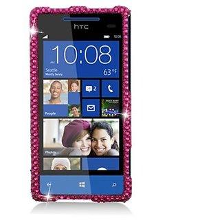Aimo Wireless HTC6990PCDI003 Bling Brilliance Premium Grade Diamond Case for HTC Windows Phone 8x - Retail Packaging - H
