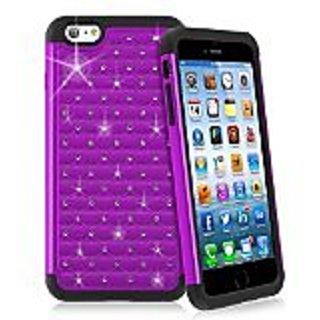 INSTEN Hybrid Case for Apple iPhone 6 Plus - Retail Packaging - Black/Purple