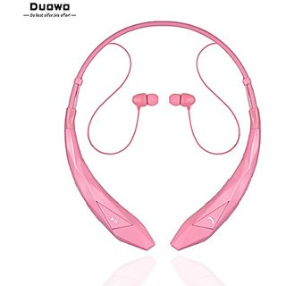 Duowo HBS-902 Bluetooth Headphone, Wireless Headset Stereo Headphone Flex Neck Strap EarBud Lightweight Noise Cancelling