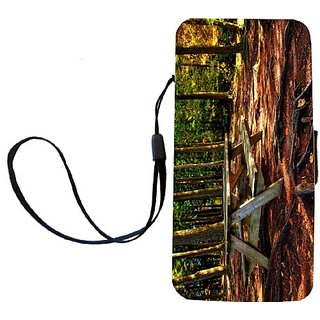 Rikki Knight Forest Picnic Table Flip Wallet iPhoneCase with Magnetic Flap for iPhone 5/5s - Forest Picnic Table