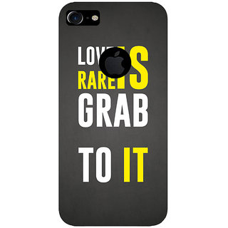 GripIt LOVE IS RARE Printed Case for Apple iPhone 7