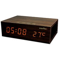GranVela® W1 Wooden Alarm Clock Bluetooth Wireless Stereo Speaker With Dual USB Port Charger, Built-in Microphone, T