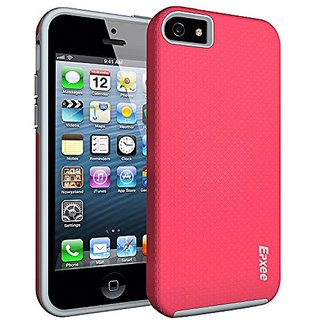 iPhone 5 Case, Epxee ARMOR Defender Heavy Duty Protection Impact Resistant Shockproof Slim Fit TPU Plastic Dual Layer Pr
