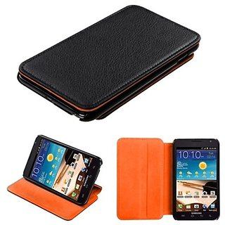MYBAT SAMI717MYJK811WP MyJacket Case for Samsung Galaxy Note - Retail Packaging - Black/Orange