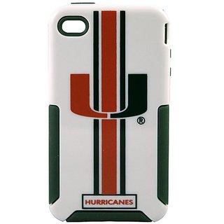 NCAA Miami Hurricanes Helmetz Cover for iPhone 4