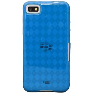 KATINKAS 2108054903 Soft Cover for BlackBerry Z10 - Checker - 1 Pack - Retail Packaging - Blue
