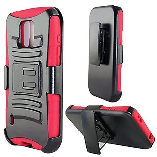 Zizo Heavy Duty Armor Style 2 Cases with Holster for Samsung Galaxy S5 Active AT&T - Retail Packaging - Red/Black...