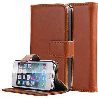 iPhone SE Case, Pandawell™ Premium PU Leather Wallet Case Magnetic Folio Flip Cover Stand with Credit Card Slots &