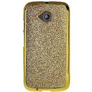 Reiko Cell Phone Case for Motorola Moto E LTE 2nd Gen, XT1527, XT1511, XT1505 - Retail Packaging - Gold