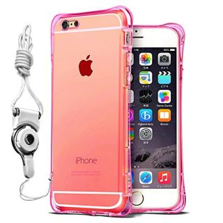 Soft Silicone Transparent Clear Bumper Case Shiny Flash Light Glitter Case Cover for Apple Iphone 6 /6S Clear Rose
