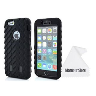 iPhone 6 Plus Case,Soft Rubber Hard Hybrid Tire Stripe Combo High Impact Heavy Silicone Case Cover For Apple iPhone 6 Pl