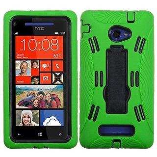 MYBAT AHTCWIN8XHPCSYMS007NP Symbiosis Dual Layer Protective Case with Kickstand for HTC Windows Phone 8X - 1 Pack - Reta