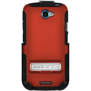 Seidio BD2-HK3HTNESK-GR DILEX Case with Metal Kickstand and Holster Combo for use with HTC One S - Garnet Red