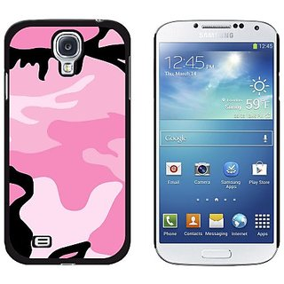 Graphics and More Pink Camouflage Army Soldier Snap-On Hard Protective Case for Samsung Galaxy S4 - Non-Retail Packaging