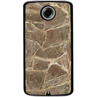 Ayaashii Marble Pieces Back Case Cover for Motorola Google Nexus 6
