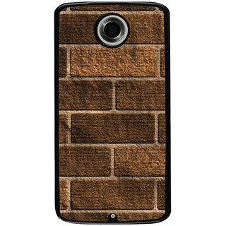Ayaashii Wooden Bricks Pattern Back Case Cover for Motorola Google Nexus 6