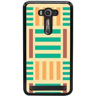 Ayaashii Horizontal Vertical Stripes Back Case Cover for Asus Zenfone Selfie::Asus Zenfone Selfie ZD551KL