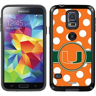 Coveroo CandyShell Cell Phone Case for Samsung Galaxy S5 - University of Miami Polka Dots
